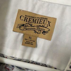 2d968e2309c Daniel Cremieux Shirts - Cremieux Premium Denim Shirt NWOT Cream+Burgundy +